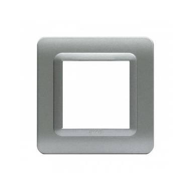 Ramka srebrny mat plastikowa x1
