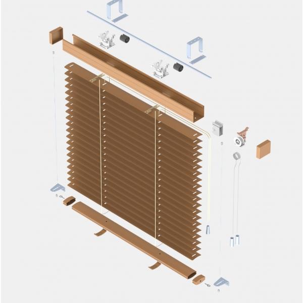 elektryczne żaluzje poziome aluminiowe