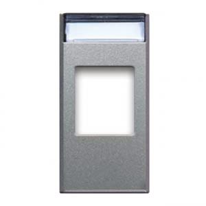 adapter gniazda elektrycznego srebrny