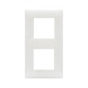 Ramka absolutna biel plastikowa x2