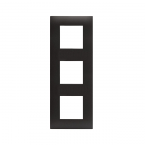 Ramka czarny mat plastikowa x3