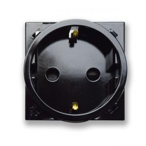 gniazdo elektryczne retro czarne