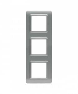 Ramka srebrny mat plastikowa x3