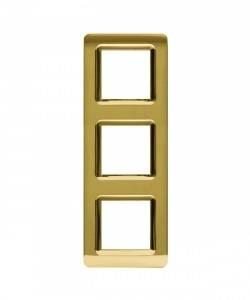 Ramka złota plastikowa x3