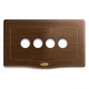 retro ramka z drewna poczwórna