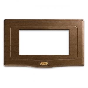 retro ramka włącznika drewno