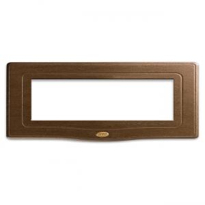 retro ramka włącznika z drewna