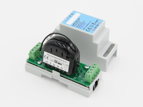 szyna DIN smart moduł