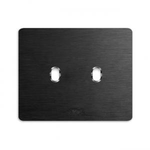 smart ramka włącznika AVE aluminium szczotkowane