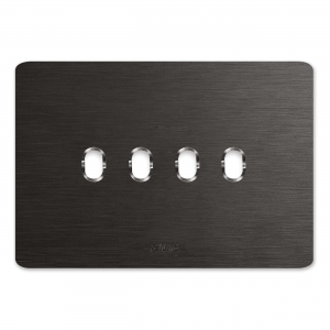 ramka włączników AVE aluminium szczotkowane