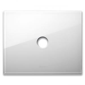 biała szklana ramka włącznika