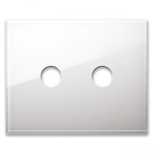 biała szklana ramka podwójna