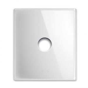 ramka włącznika szklana biała