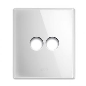 biała szklana ramka włącznika światła