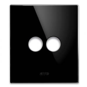 szklany włącznik światłą retro czarny