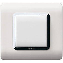 włącznik światła biały nowoczesny