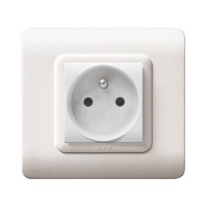 białe nowoczesne gniazdko elektryczne