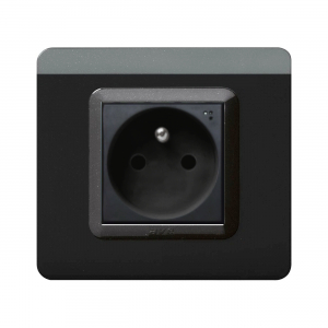czarne matowe gniazdo elektryczne AVE