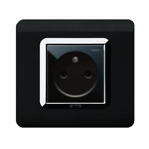 czarne gniazda elektryczne AVE połysk