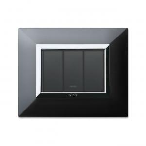 włoski włącznik światła czarny metal