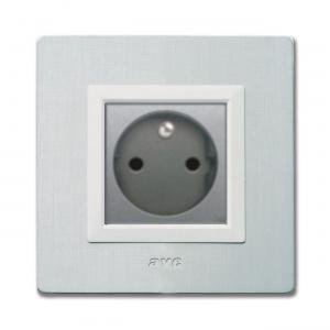 białe designerskie gniazdko elektryczne