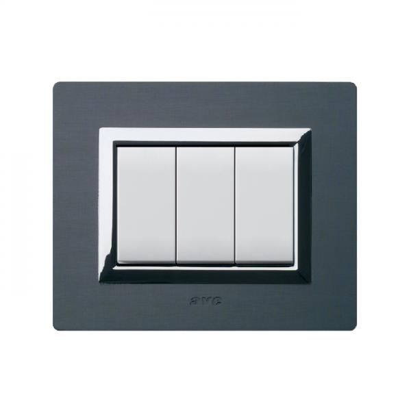 ramka włącznika światła szczotkowane aluminium