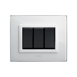 ramka włącznika światła szklana biała
