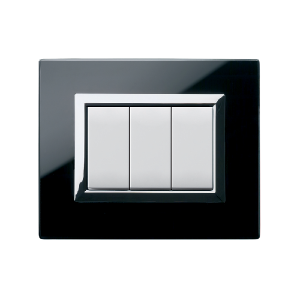 designerski włącznik światła szklany