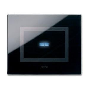 czarny włąćznik dotykowy szklany