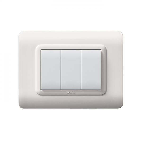 biała ramka włącznika światła designerska