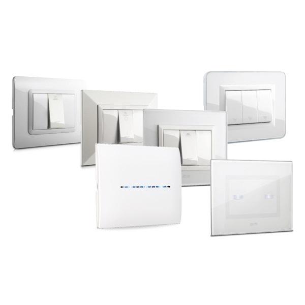 dotykowe włączniki światła białe