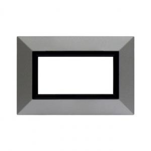 Ramka metalowa srebrny mat 4M