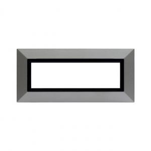 Ramka metalowa srebrny mat 7M