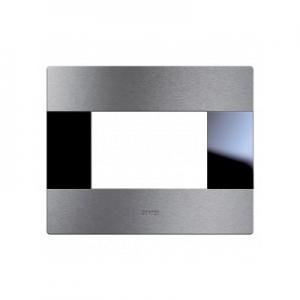 Ramka włącznika szczotkowane aluminium