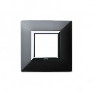 Ramka metalowa czarny mat x1