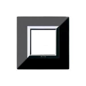 Ramka metalowa czarna x1