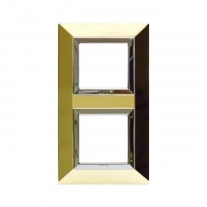 Ramka metalowa złota x2