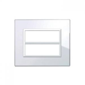 ramka włącznika białe szkło