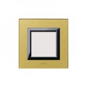 Ramka złota szklana x1
