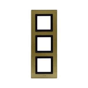 Ramka złota szklana x3