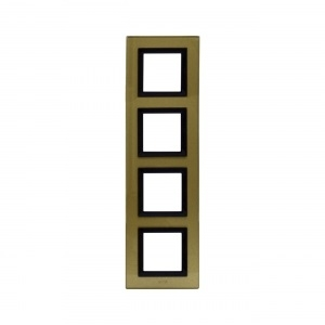 Ramka złota szklana x4