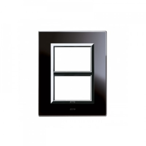 Ramka czarna szklana 3+3M