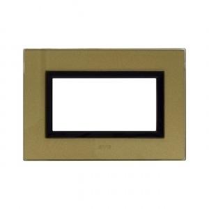 Ramka szklana złota 4M
