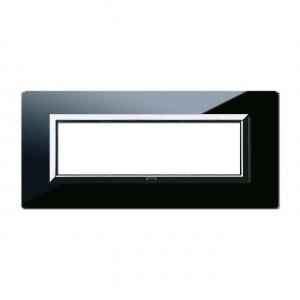 Ramka czarna szklana 7M