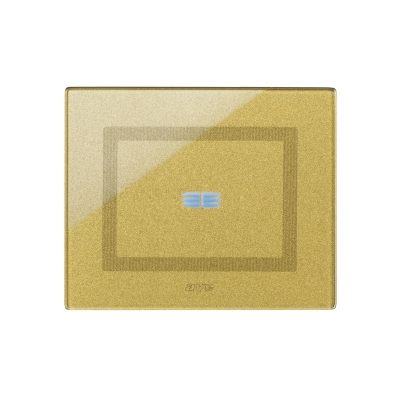 Ramka dotykowa złota szklana na jeden przycisk