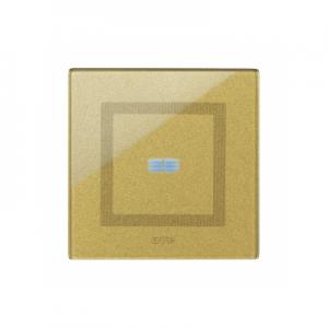 nowoczesna ramka włącznika światła złota