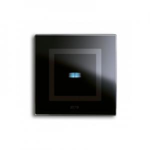 Ramka dotykowa czarna szklana na jeden przycisk
