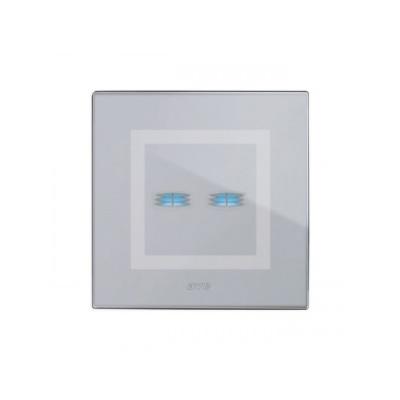 Ramka dotykowa szara szklana na dwa przyciski