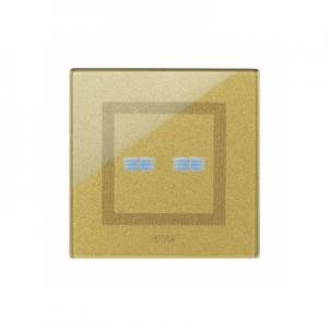 nowoczesne ramki włącznika światła złote