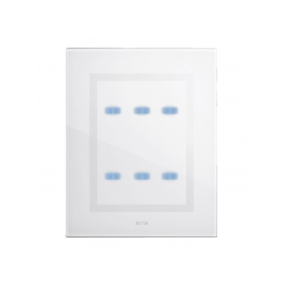 nowoczesne ramki włącznika białe